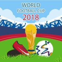 Coupe du monde avec crampons et ballon