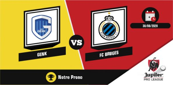 Pronostic Racing Genk Club Bruges 30 août 2020 4ème journée Jupiler Pro League