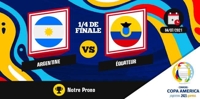 Argentine Equateur Pronostic Dimanche 04 Juillet 2021
